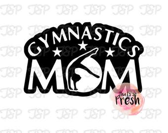 Gymnastics Mom Vinyl Decal, Gymnastics Mom Sticker, Gymnast Mom Vinyl Decal, Gymnast Mom Sticker