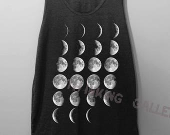 Moon Phase Shirt Tank Top Singlet Tunic TShirt T Shirt