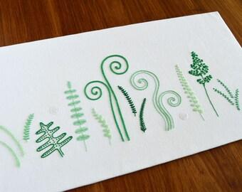 Wild Ferns hand embroidery pattern, modern embroidery, nature, embroidery design, embroidery pattern, embroidery PDF, PDF pattern