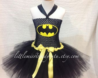 Bat Girl Tutu Dress, Bat GirlTutu Costume, Super Hero Tutu Dress, Super Hero Costume Girls, Girls Bat Man Tutu Dress Tutu Dress Costume