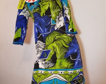FREE  SHIPPING   1960 Pop Art DRESS