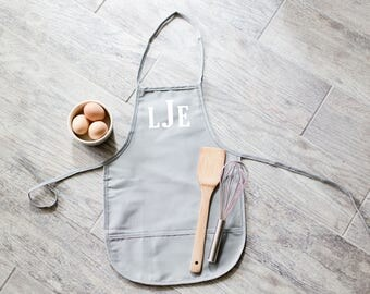 Farmhouse Style Personalized Monogram Kid's Child's Apron Girl Christmas Gift Kitchen Baking Cooking Artist