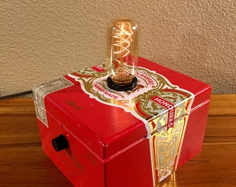 Red Cigar Box Lamp