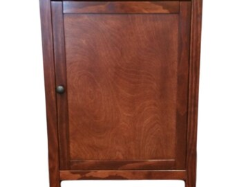Single Door, Odor Free, Custom, Hand Made In USA, Wood Cat Litter