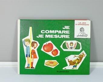 Vintage french children book 1967 Je compare je mesure, Je découvre les formes -  La joie d'Apprendre collection - Les Presses d'Or edition