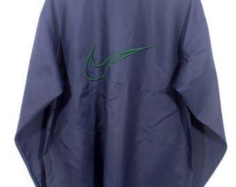 Vintage 90s Nike Navy Blue Swoosh Windbreaker Jacket Size Medium M / Vintage nike Windbreaker / Nike Jacket /