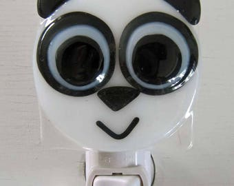 Liam - Panda: Fused Glass Night Light - Free Shipping!