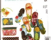 Woman's Slippers, Jewelry Pouch, Zippered Bags and Jewelry Case Sewing Pattern / McCalls 6715 / All sizes / UNCUT / Out of Print