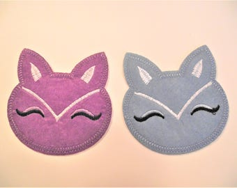 FOX FACE APPLIQUE,Fox Iron On Applique,Sewing Item,Kids Clothing Item,Sewing Notion,,Baby Animal Applique,Woodland,Various Colors,Fox Patch