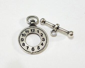 Pocket Watch, Clasp, Toggle, Watch, Steampunk, Mixed Media, Pendant, Component, Closure, Jewelry, Beading, Supply, Supplies