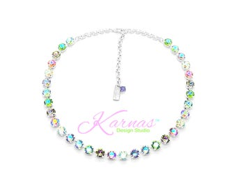 SUGAR KISSES 8mm KDS Necklace Made With Swarovski Crystal *Pick Your Finish *Karnas Design Studio™ *Free Shipping