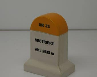 Sestriere Km Marker Milestone Tour de France Mountains