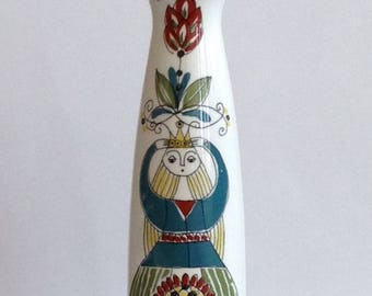 Figgjo Flint Norway Handpainted Saga Vase