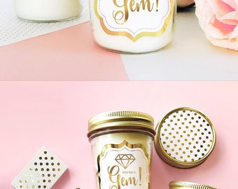 Youre a Gem Gift Candle - Hostess Gift Ideas - Thank You Gift - Thank You Card Alternative Thank You Friend Gift (EB3178FT)