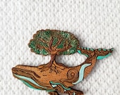 Humpback whale Brooch Pin // Wooden Whale Pin by Rylee & Ink // Lapel pin