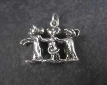 Sterling Three Blind Mice Charm Nursery Rhyme Jewelry
