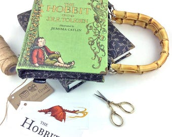 """The Hobbit Handbag, JRR Tolkien, Hobbit bag, Hobbit purse, The Lord of the Rings Handbag, """"In a hole in the ground there lived a hobbit..."""""""