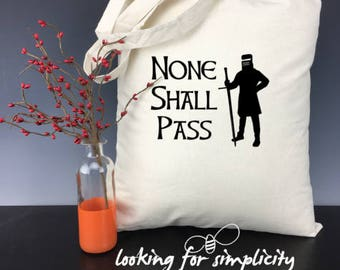 Monty Python Quote Inspired Natural Cotton Canvas Tote Bags - 8 Quotes to Choose From!