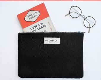 Bag organizer, make up pouch, zipper pouch, make up bag, cotton zipper bag, clutch bag, small purse bag, cosmetic bag, gift for a friend