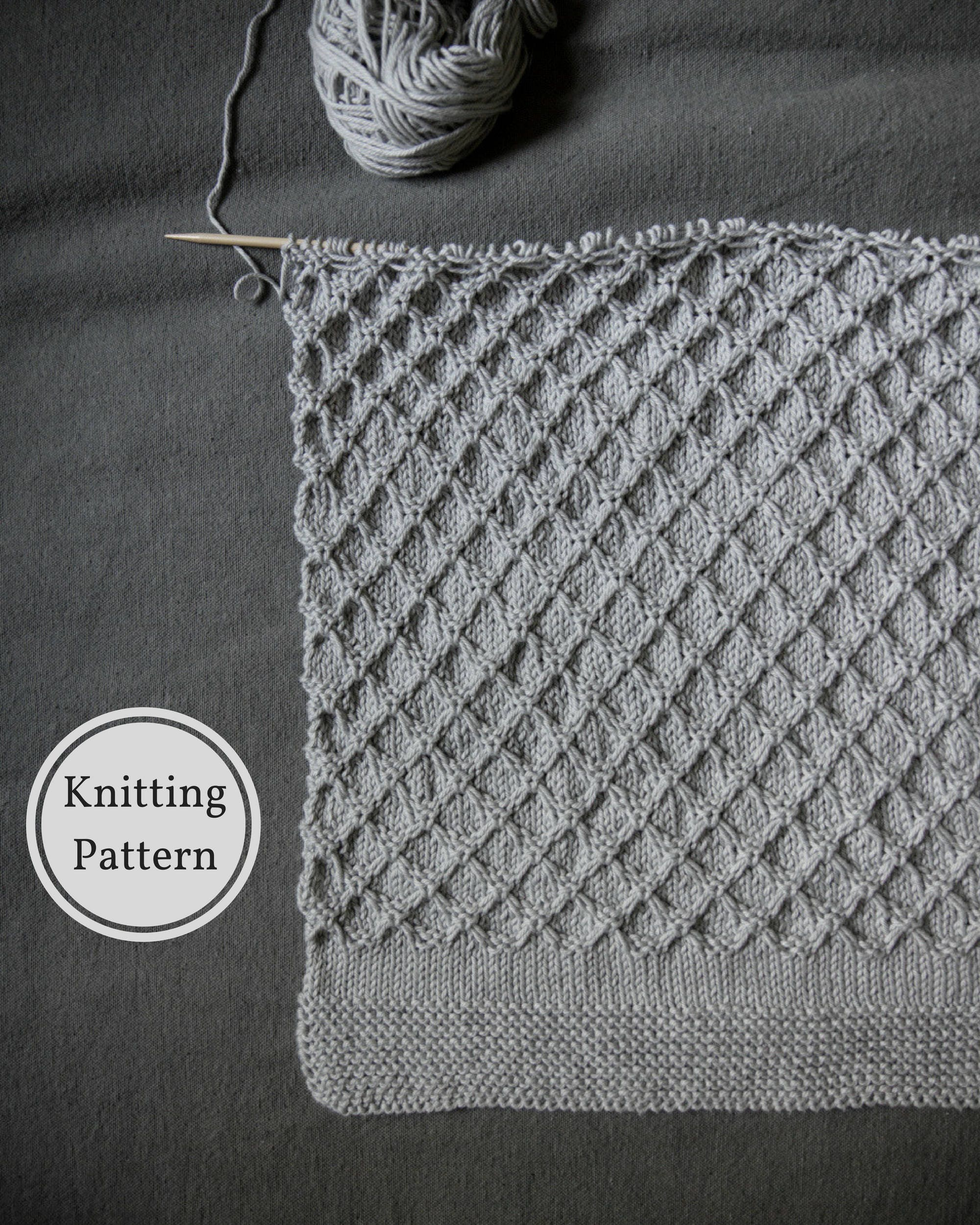 Honeycomb Baby Blanket Pattern | Easy Knitting Pattern | Knitted ...