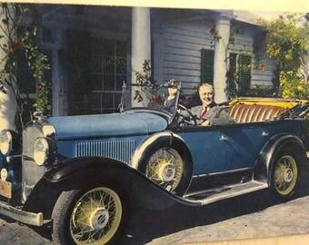 Vintage FDR Postcard President Franklin D Roosevelt US President 1932 Plymouth