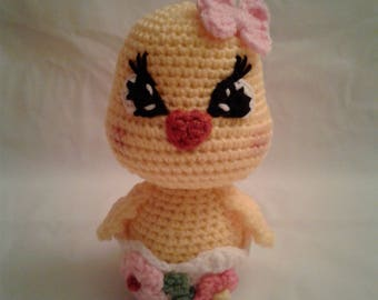 DELILAH the Pretty Duck = Crochet Amigurumi - Crochet DUCK - Handmade Crochet Amigurumi