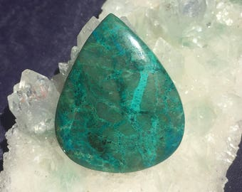 Chrysocolla Large Turquoise Cabochon approx. 41mm x 33.5mm