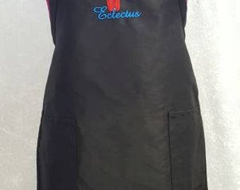 Eclectus Parrot Female Embroidered on an Apron