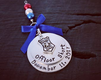 Police Officer Christmas Ornament | Police Academy Graduation Gift | Police Officer Retirement Gift | Deputy Ornament | Sheriff Ornament