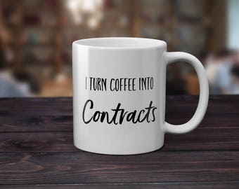 Realtor Closing Gift Realtor Gift Realtor Gifts Real Estate Agent Realtor Gift Idea Home Closing Gifts I turn coffee into contracts
