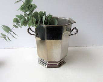 Mid Century Barware -  Vintage Stainless Steel Champagne Bucket - Mid Century Elegance -Jean Couzon for American Airlines - French