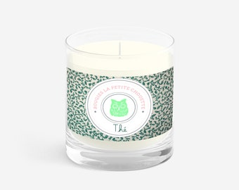 Green tea, Osmanthus, soy wax, 200g scented candle