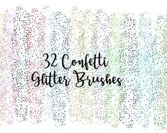 Confetti Glitter Brush, Glitter Brush Strokes, Confetti Brush Strokes, Rainbow Brush Strokes, Decal for Shops, Commercial Use, PNG Files