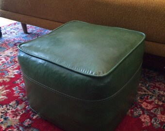 Vintage Retro Hassock Ottoman Footrest