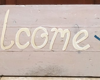 Welcome Y'all Entryway Sign
