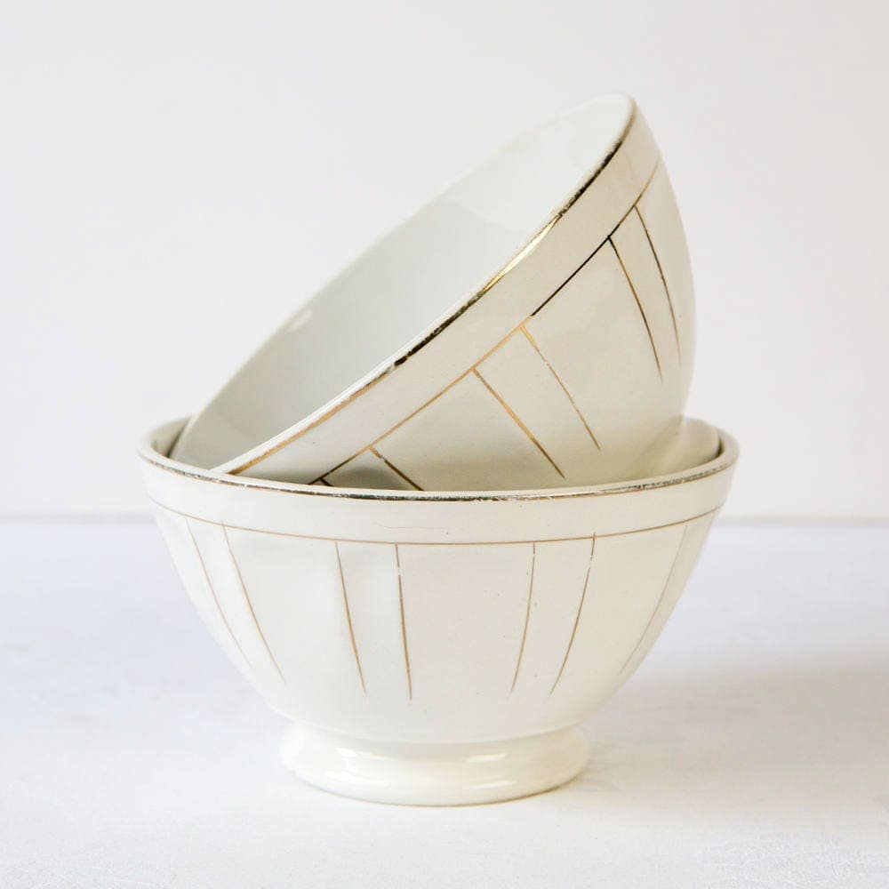 Vintage Cafe Au Lait Bowls 94