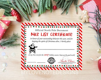 Printable thanks a latte for all that you do thank instant nice list certificate 2017 printable certificate template diy christmas holiday nice list from yadclub Image collections