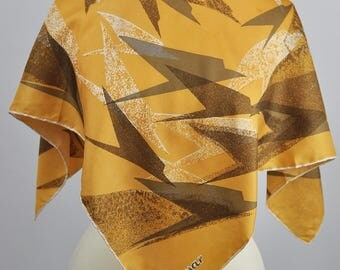 Vintage 1970's Jacqmar BOAC Speedbird Design Silk Scarf