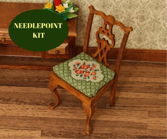 Cross Stitch Dollhouse Chair Kit, Petit Point Chair Kit, Dollhouse Dining  Room Chair, Kit For 12th Scale Dollhouse, 1:12 Chair Kit, 32 Gauze From ...