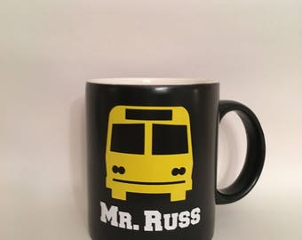 School Bus Driver Gift, Bus Driver Present, Personalized Mug, Custom Gift for Bus Driver, personalized coffee cup, Bus Driver Christmas Gift