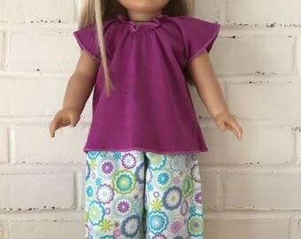 American Girl Doll - Pajama set