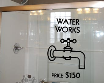 Water Works Price 150   Wall Decals   Wall Decal   Wall Vinyl   Wall Decor