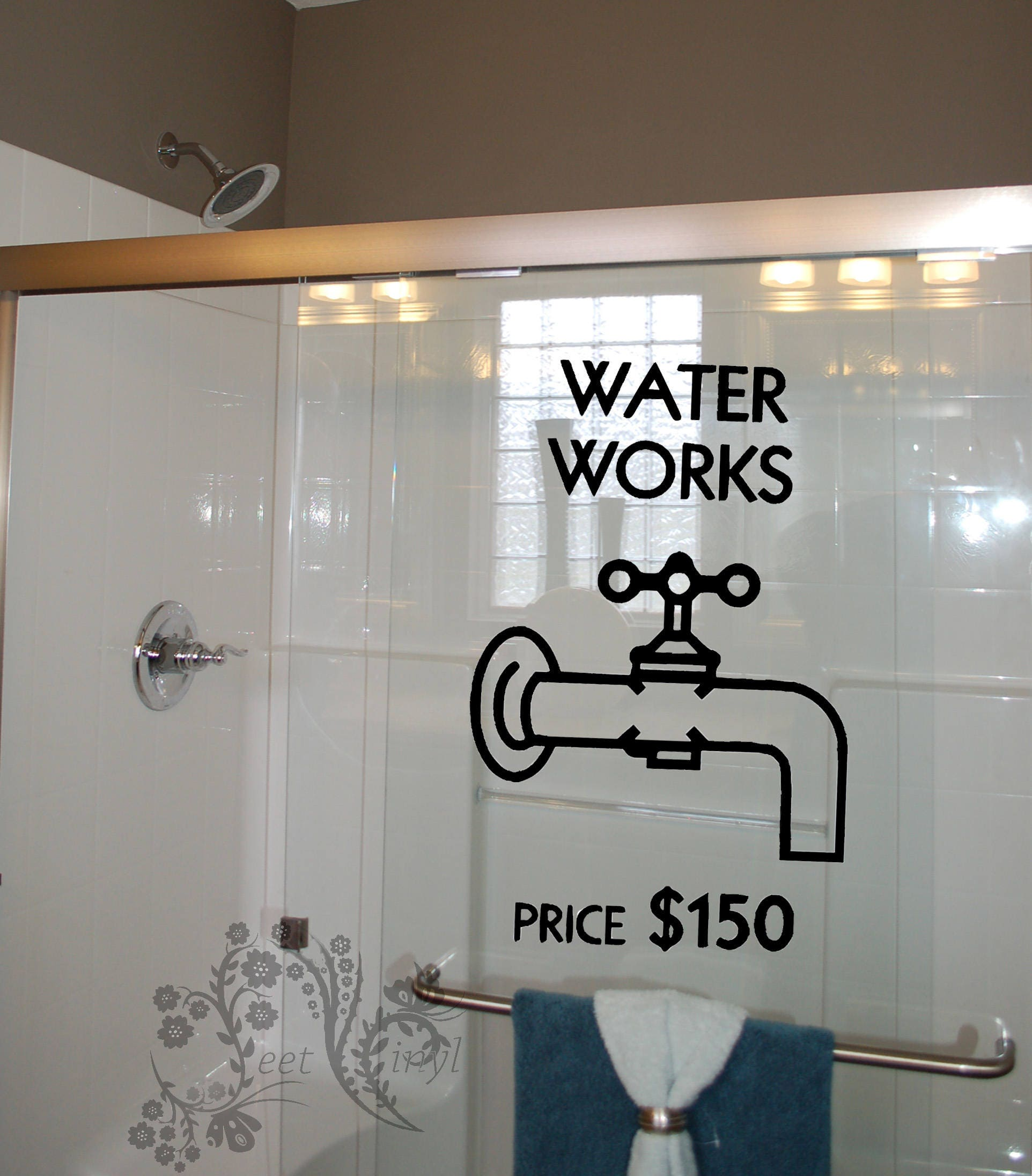 Water Works Price 150 - Wall Decals - Wall Decal - Wall Vinyl - Wall Decor