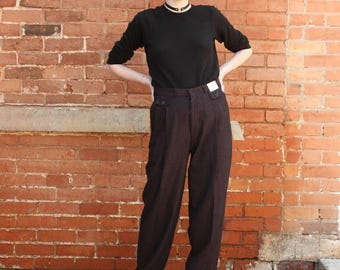High Waisted Pleated Vintage 1980s Intimo NOS Mens Club Pants
