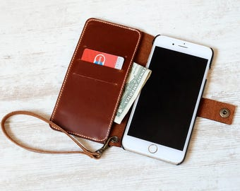 Wristlet iphone 6s plus wallet case , iphone 6s plus case , iphone 6s plus case leather , iphone 6s plus leather case, iphone 6s plus cases