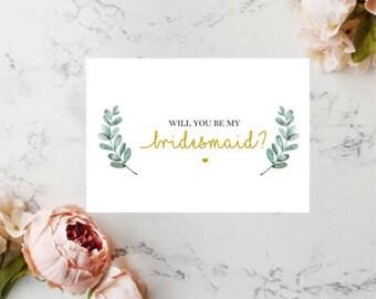 Will You Be My Bridesmaid Card, Bridesmaid Proposal Card, Card For Bridesmaid