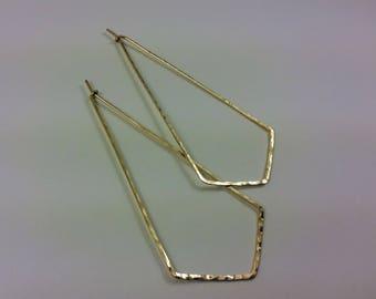 Chevron Earrings, Arrow Earrings, Chevron Jewelry, Geometric Earrings, Triangle Earrings, Gold Chevron Earrings, V Earrings, Hoop Earrings