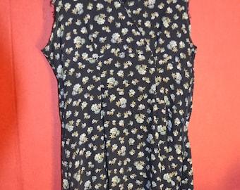 Vintage 90s dress Laura Ashley Grunge Blue floral dress size m