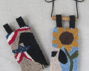 Punch Needle Pattern ~ Hanging Banners ~ Summer ~ Patriotic ~ Crow ~ Sheep ~ Sunflower ~ Punchneedle pdf pattern ~ needle punch epattern