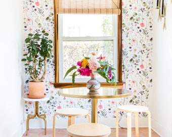 Floral Finds Traditional Prepasted Wallpaper - Easily Removable!